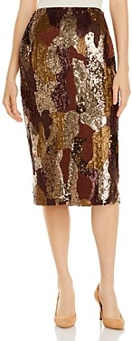 Lafayette 148 New York Casey Sequined Pencil Skirt