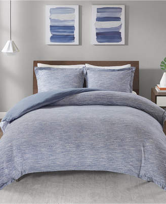 Melange Home Urban Habitat Space Dyed Full/Queen 3 Piece Cotton Jersey Knit Duvet Cover Set Bedding