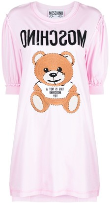 Moschino Teddy embroidered T-shirt dress