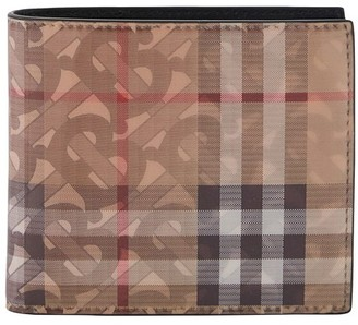 Burberry Reg CC leather two-section wallet