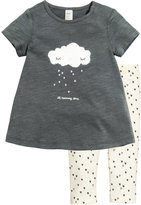 H&M Top and Leggings - Dark gray/cloud - Kids
