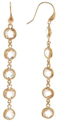 Rivka Friedman 18K Gold Clad Rock Crystal Drop Earrings