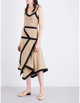 J.W.Anderson Contrast linen midi dress