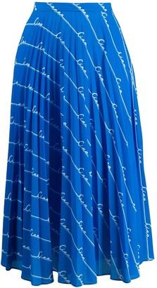 Chinti and Parker Monogram Print Skirt
