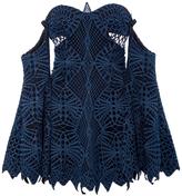 Jonathan Simkhai Lace Applique Bustier Tunic