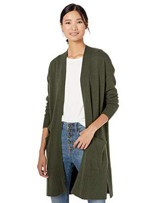 Goodthreads Wool Blend Jersey Stitch Longline Cardigan SweaterL