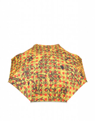 Moschino Yellow Pages Openclose Umbrella Woman Yellow Size Single Size