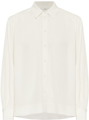 Co Stretch-crepe blouse