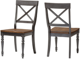 Baxton Studio Dove Gray & Brown Rosalind Side Chairs - Set of Two