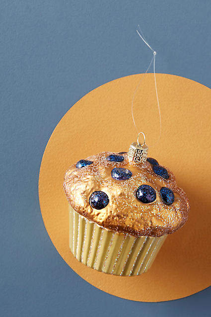 Anthropologie Blueberry Muffin Ornament