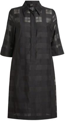 Akris Check Shirt Dress