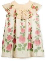 Gucci Rose Garden Ruffle Dress, Size 4-12
