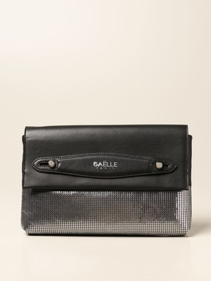 Gaëlle Paris Gaeuml;lle Paris Clutch Bag In Synthetic Leather And Metal Mesh