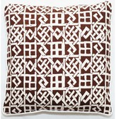 """Modern Lattice Throw Pillow Corona Decor Color: Brown, Size: 18"""" x 18"""""""