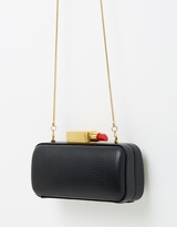 Lulu Guinness Smooth Leather Carrie Clutch