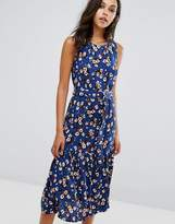 Warehouse Ditsy Floral Print Midi Dress