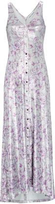Paco Rabanne Lurex Floral Sleeveless Maxi Dress