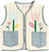 Stella McCartney Padded Cotton Jersey & Denim Vest