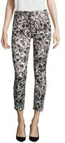 Jen7 Etched Floral-Print Ankle Skinny Jeans