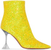 Amina Muaddi Georgia 95mm glitter boots