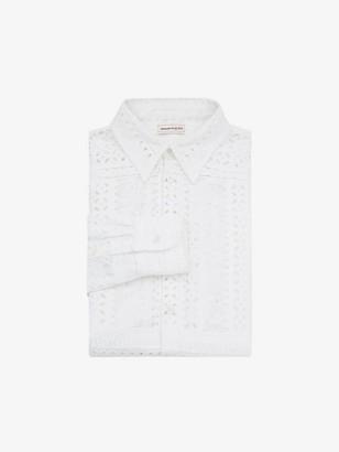 Alexander McQueen Patchwork Embroidered Shirt
