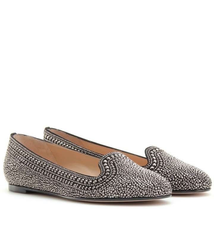 Valentino STUDDED SLIPPER-STYLE LOAFERS