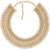 Michael Kors Gold-Tone Linked Wide Collar Necklace