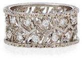 Buccellati Ramage 18K White Gold Diamond Ring, 0.68 tdcw, Size 53
