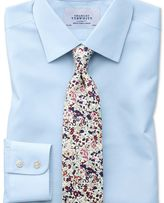 Charles Tyrwhitt Slim fit non-iron poplin sky blue shirt