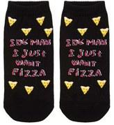 Forever 21 FOREVER 21+ I Just Want Pizza Ankle Socks