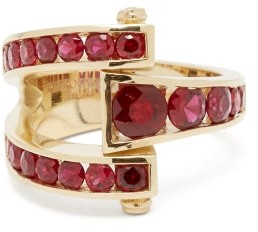 Retrouvaí Magna Ruby & 14kt Gold Wrap Ring - Red Gold