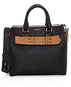 Burberry Women's Small Marais Contrast Leather Belt Tote
