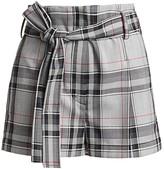 3.1 Phillip Lim Plaid Belted High-Waist Shorts