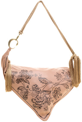 Roberto Cavalli Dusty Pink Leather Shoulder Bag