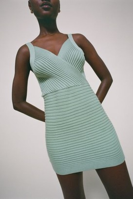 Lioness East On Ribbed Knit Mini Dress