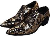 Cover Plus 2 Color US Size 5-12 New Stylish Fashion Floral Leather Mens Dress Oxford Shoes