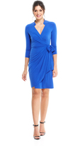 Maggy London Sea Wave Long Sleeve Wrap Dress