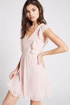 BCBGeneration Ruffled Flare Dress - Gray