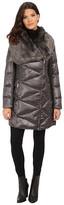 Via Spiga Down Coat w/ Exaggerated Faux Fur Collar