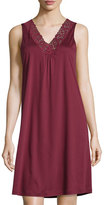 Hanro Moments Tank Nightgown, Red Plum