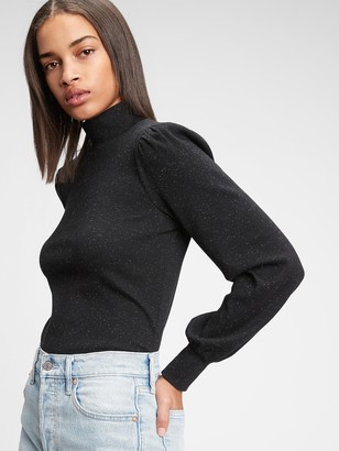 Gap Ribbed Puff Sleeve Turtleneck T-Shirt
