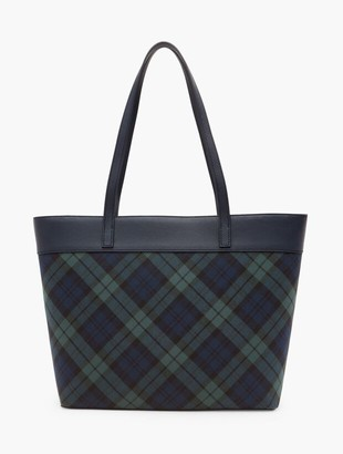 Talbots Black Watch Plaid Tote
