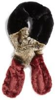Leith Women's Colorblock Faux Fur Stole