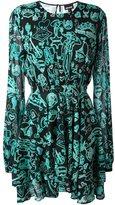 Just Cavalli multi-print flared dress - women - Silk/Polyester/Spandex/Elastane - 40