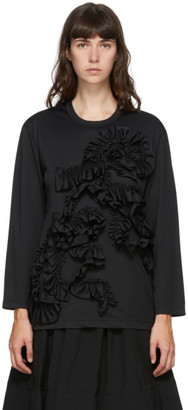 Comme des Garçons Comme des Garçons Black Ruffle Long Sleeve T-Shirt