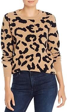 Madeleine Thompson Grumpy Leopard Print Cashmere Sweater