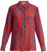 Diane von Furstenberg Callow-print silk-crepe shirt