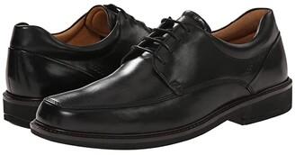 Ecco Holton Apron Toe Tie (Black) Men's Plain Toe Shoes