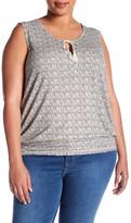 Susina Novelty Knit Linen Blend Tank (Plus Size)