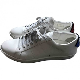 Saint Laurent SL/01 White Leather Trainers